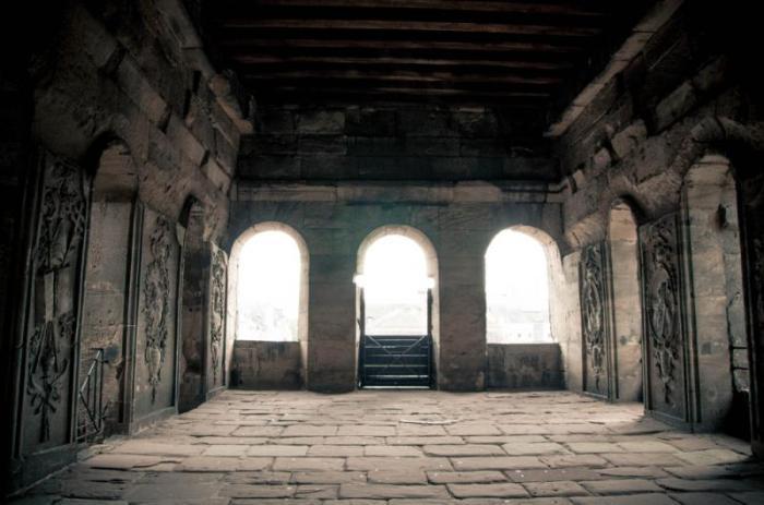 Интерьер древней римской крепости