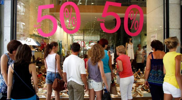 покупки и шопинг в Греции в сезон скидок