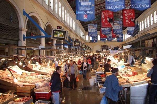 Греческие базары, народные рынки