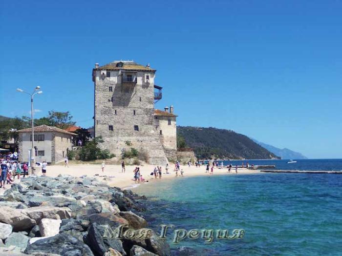 Уранополис, пляж у Башни Просфоры