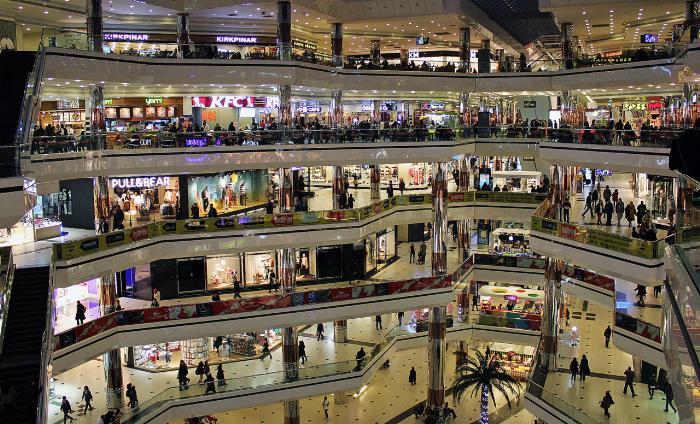Торговый центр Джевахир расположен на 6 этажах