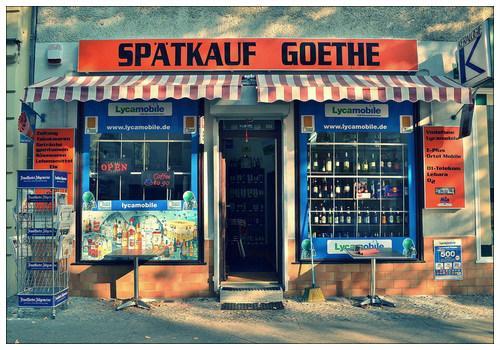 Небольшой магазинчик в немецкой столице.