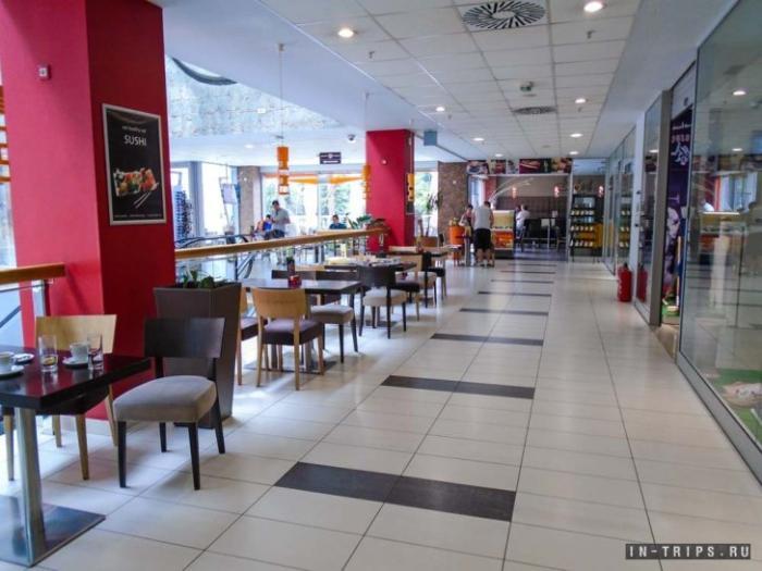 Вот так торговый центр выглядит изнутри, это фудкорт в ТЦ Камелия