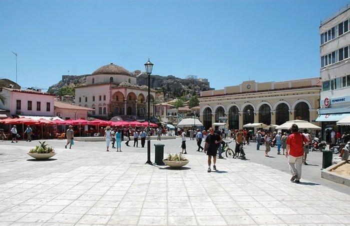 Афины - шоппинг в районе Монастираки