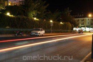 Главная улица Кириша (Турция) ночью