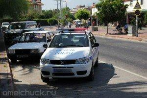 Автомобиль дорожной полиции в Кирише