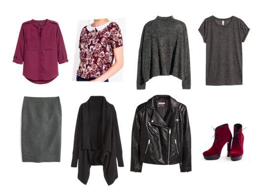 капсула, комплект, цветочный принт, юбка, косуха, вишневый