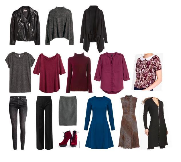 капсула, темная зима, поливор, косуха, юбка, блузка, брюки