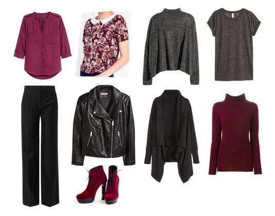 капсула, комплект, цветочный принт, брюки, косуха, вишневый