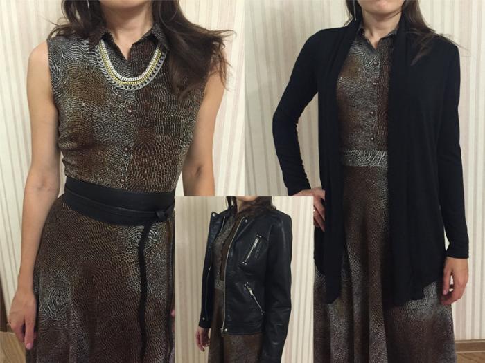 леопардовое платье и косуха
