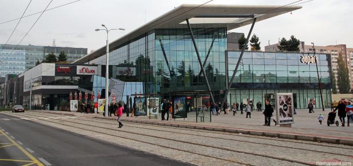 Торговый центр Аупарк в Кошице находится в центре города
