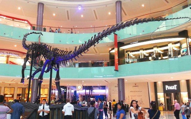 Скелет гигантского 155.000.000-летнего динозавра в Дубае
