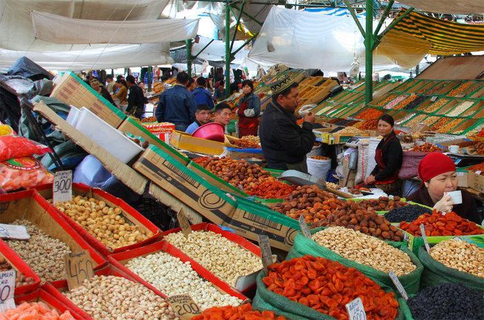 Рынок Бишкека - Кыргызстан