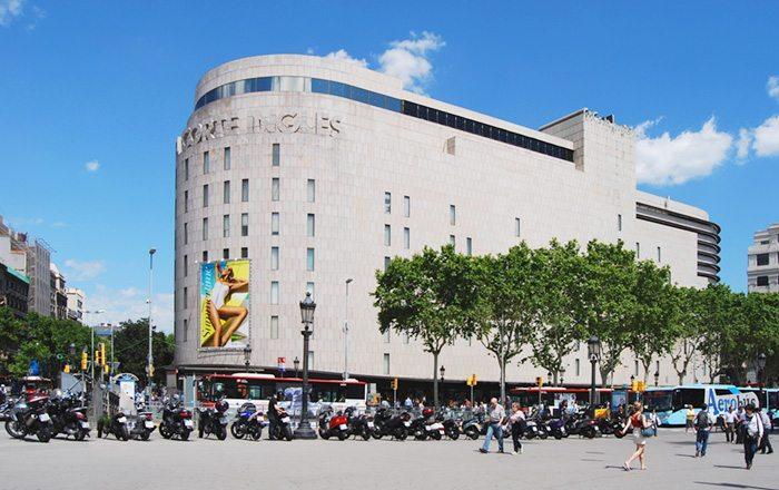 Эль Корте Инглес в Барселоне, площадь Каталонии