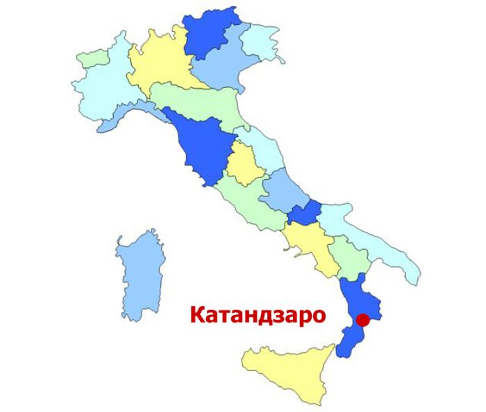 Катандзаро на карте
