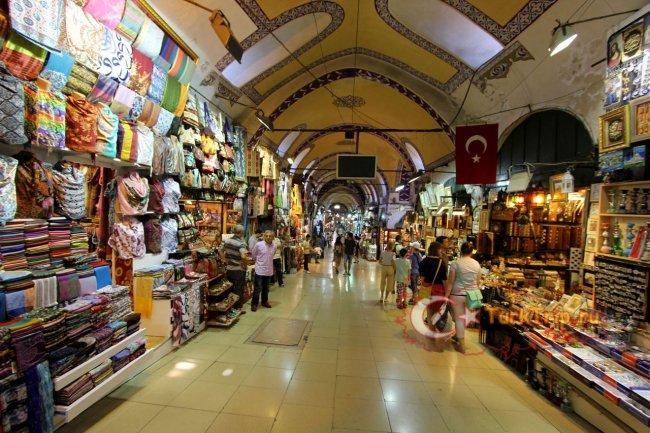 Крытый рынок (Гранд Базар) в Стамбуле