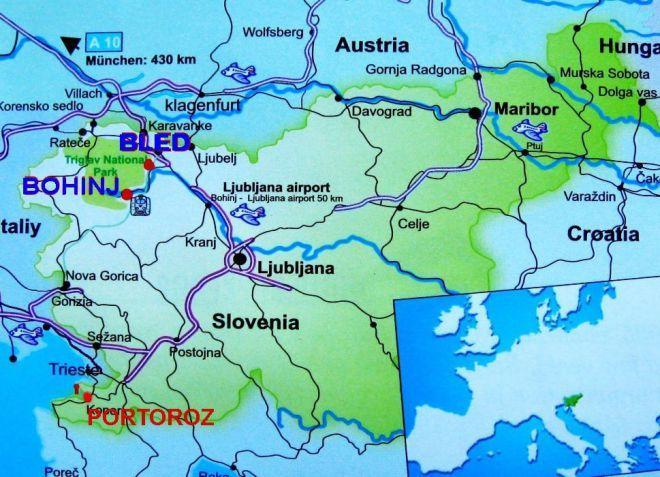 Порторож на карте