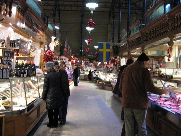 Остермальмский рынок в Стокгольме