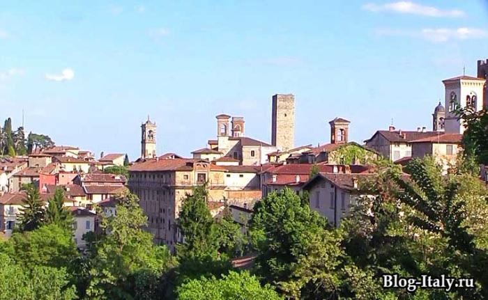 Бергамо вид на город