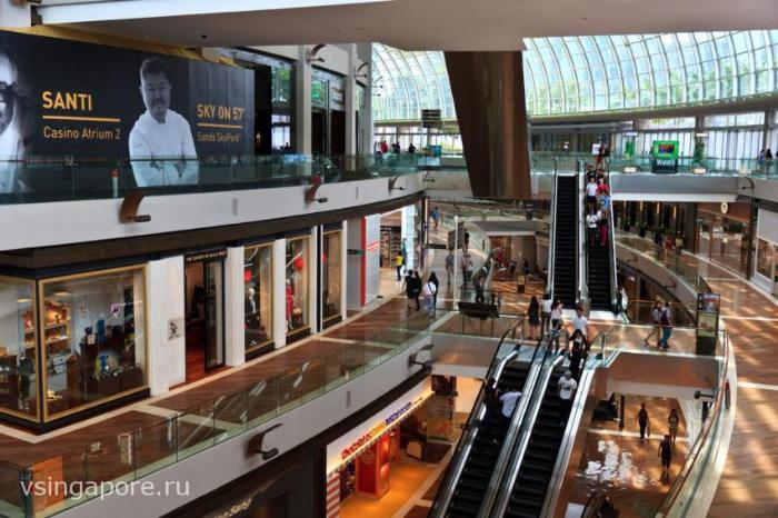 Торговый центр Марина Бэй Сэндс Сингапур