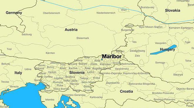 Марибор на карте