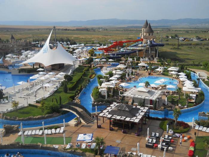 Аквапарк в Несебре считается самым крупным и экстремальным в Болгарии