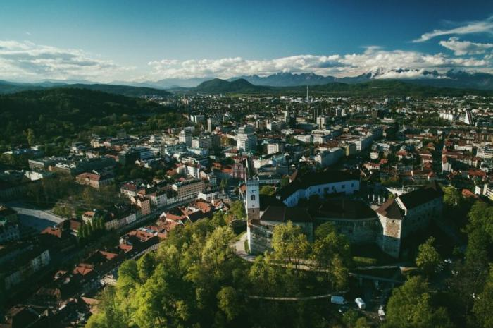 Вид на Люблянский замок