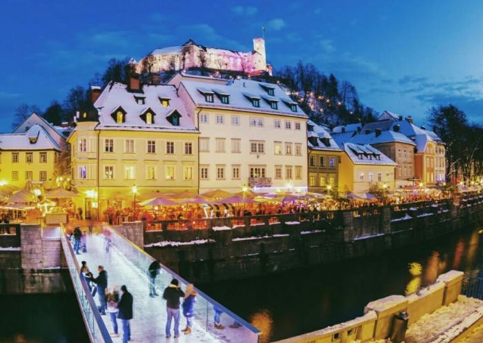 Любляна зимой