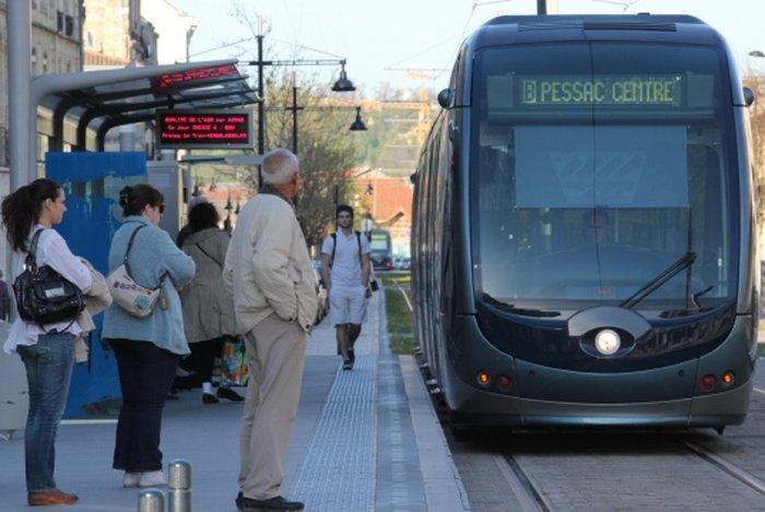 Общественный транспорт Бордо - трамвай