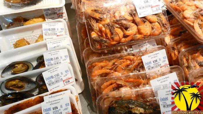 BigC креветки и морепродукты