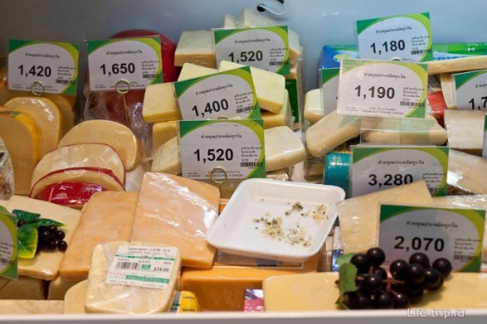 Но бывает и дорогой сыр в некоторых местах