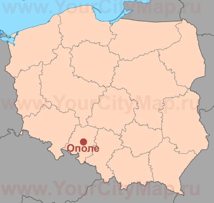 Где находится Ополе