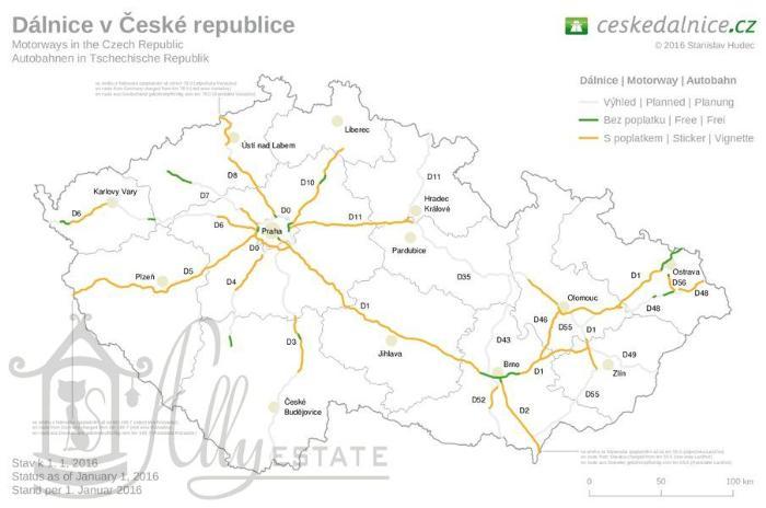 Виньетка для проезда по автострадам Чехии