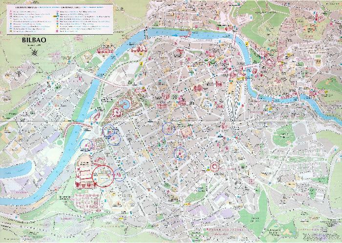 Туристическая карта Бильбао