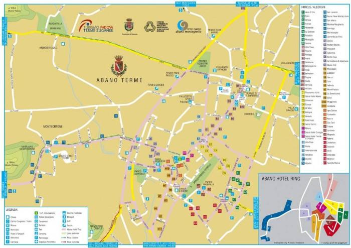 Карта Абано Терме