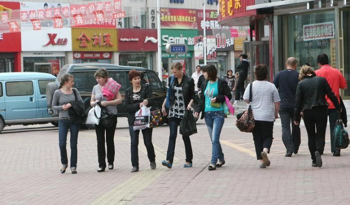 Русские туристы в Хуньчуне