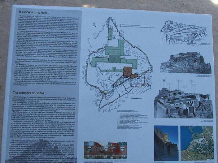 Карта Акрополя, Линдос