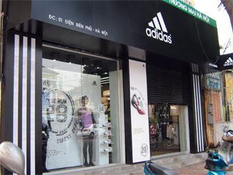 Магазин спорттоваровирмы Адидас в Ханое
