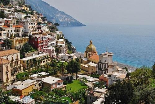Вид на Позитано, Италия