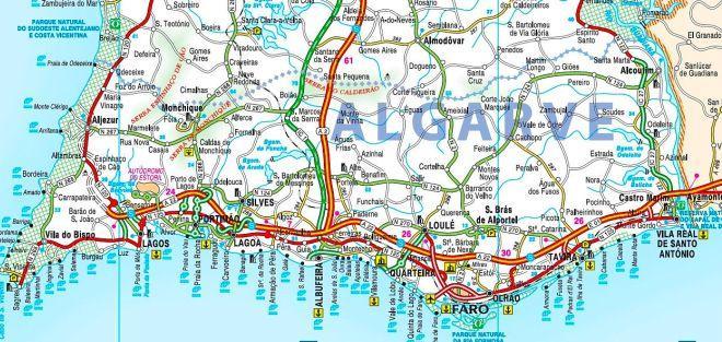 Албуфейра на карте