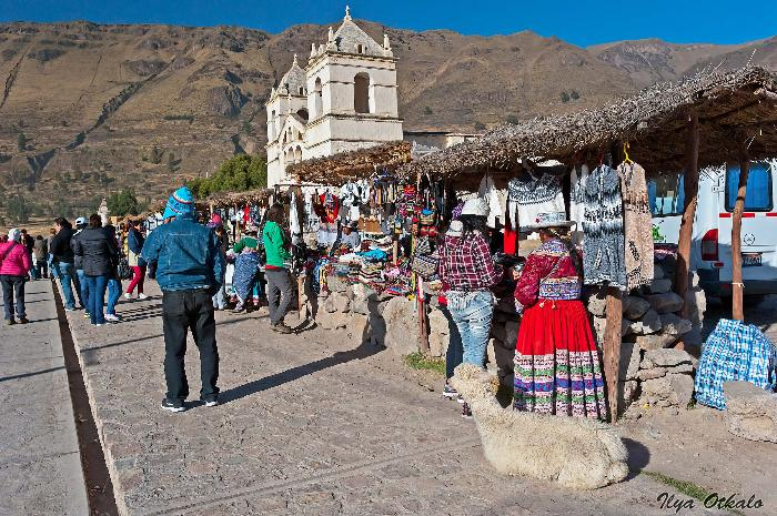 Перуанский рынок в Андах
