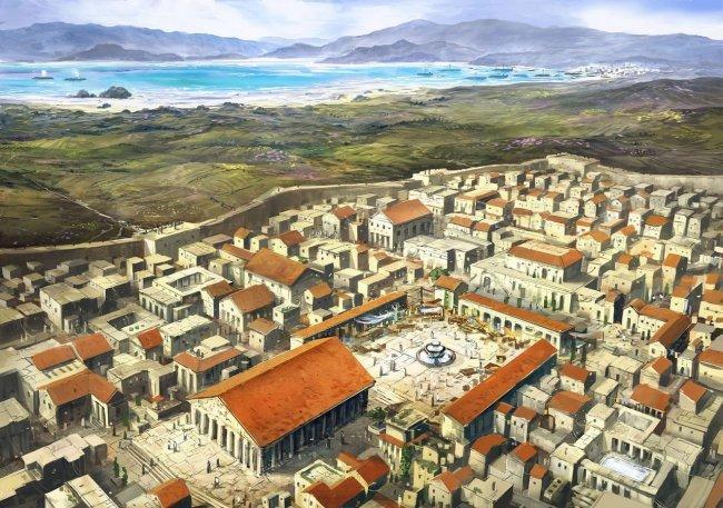Реконструкция древнего города Коринф