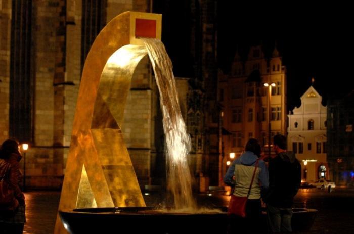 Вечерний вид фонтанов в Пльзене.jpeg