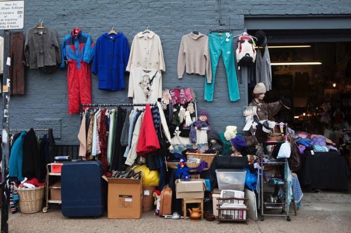 traditional flea market at Brick Lane. Brick Lane flea market operates every Sunday.