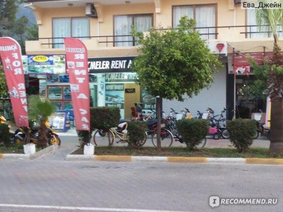 пункт проката велосипедов с детским креслом