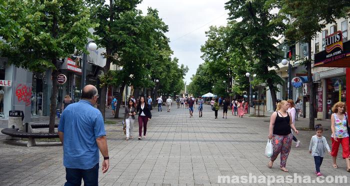 Пешеходная зона в центре Бургаса