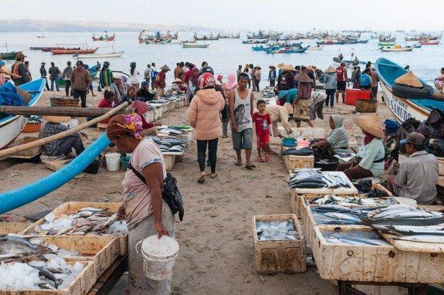Рыбный рынок на Бали