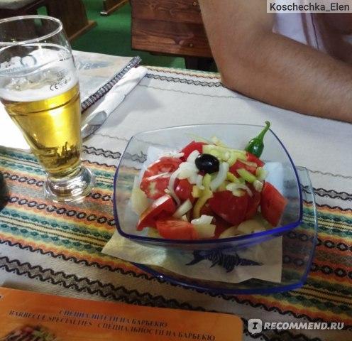 Шопска салата (без брынзы по нашей просьбе)