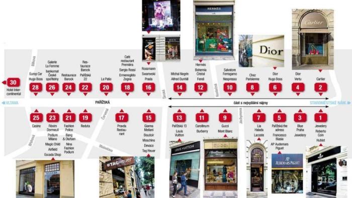 Парижская улица - схема