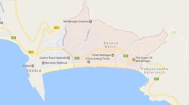 Карта Бечичи